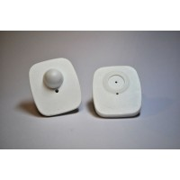 Mini square RF hard tags (WHITE)